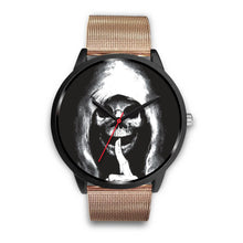 Load image into Gallery viewer, The Silencer Black Skull Watch-Black Watch-wc-fulfillment-Mens 40mm-Rose Gold Metal Mesh-SKULLZOPHRENIA