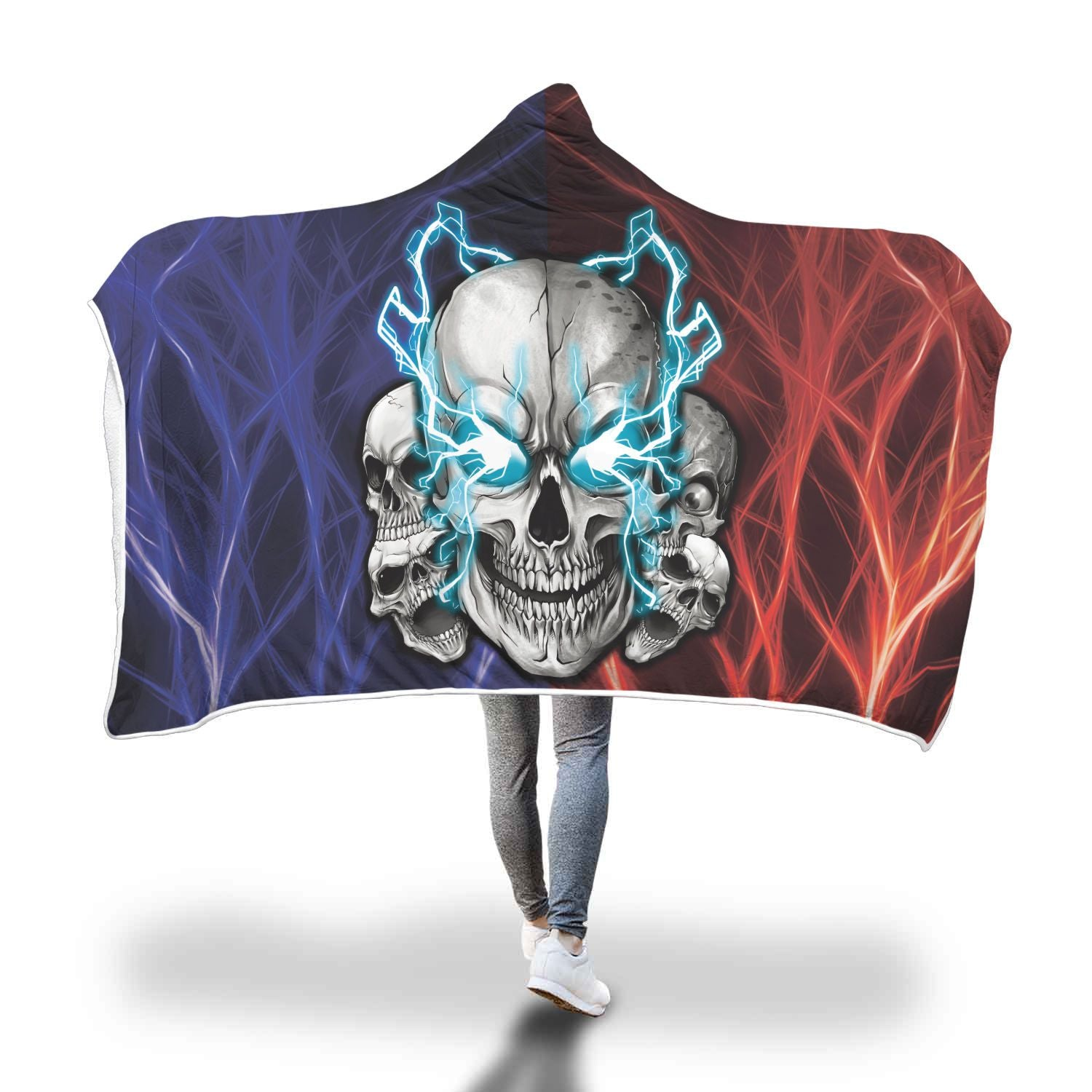 Xeuz™ Hooded Blanket-Hooded Blanket-wc-fulfillment-SKULLZOPHRENIA