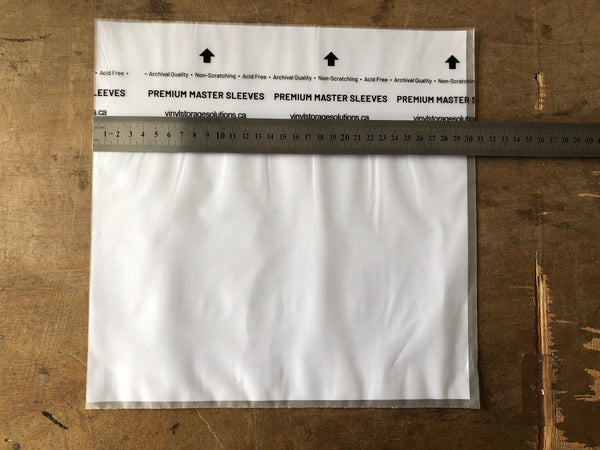 "Coming Soon - Bulk 12 inch 2 mil ""rice paper"" inner sleeves - 500  or 1000 pieces"
