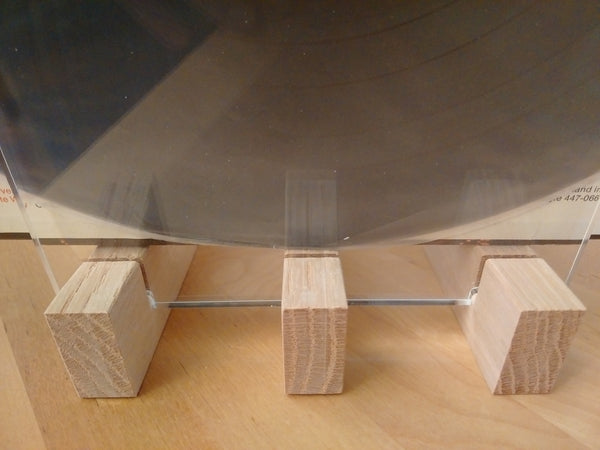 Oak Hardwood Vinyl Record Holder (stores up to 50 LP's)