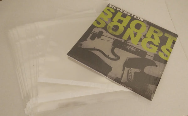 10 inch 4 mil Dual Pocket LP Vinyl Record Outer Sleeves (RESEALABLE) - Crystal Clear CPP-25 Sleeves to a Pack