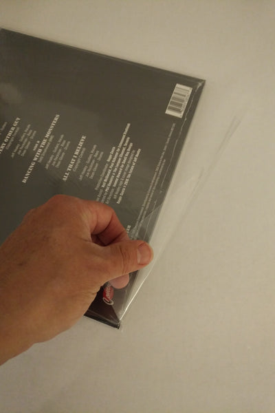 10 inch Dual Flap (No resealable tape) Tuckable 4 mil Dual Pocket LP Vinyl Record Outer Sleeves - Crystal Clear CPP-25 Sleeves to a Pack