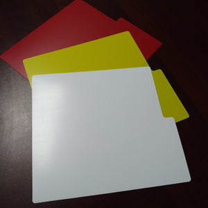 Record Dividers - Blanks - White