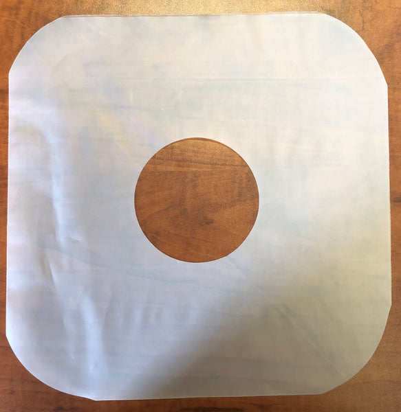 3 mil Inner Record Sleeve- with Hole Punch