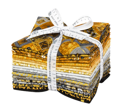 Gustav Klimt Neutral Colorstory Fat Quarter Bundle by Robert Kaufman