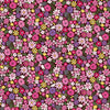 "18"" Remnant - Andover Fabrics - Bloom - Summer - Packed Flowers Pink"