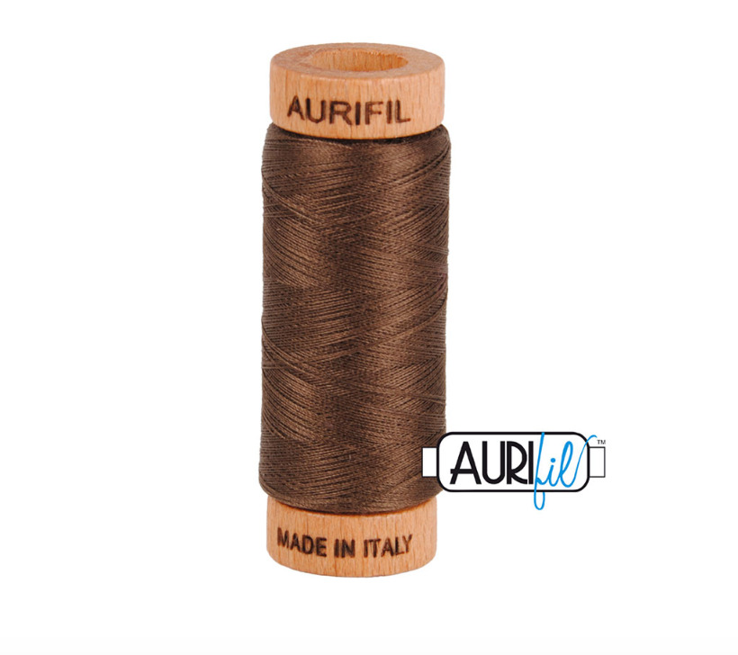 Aurifil 80wt Cotton Thread #1140 Bark