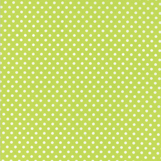 "45"" Dottie Small Dots Summer Lime by Moda 