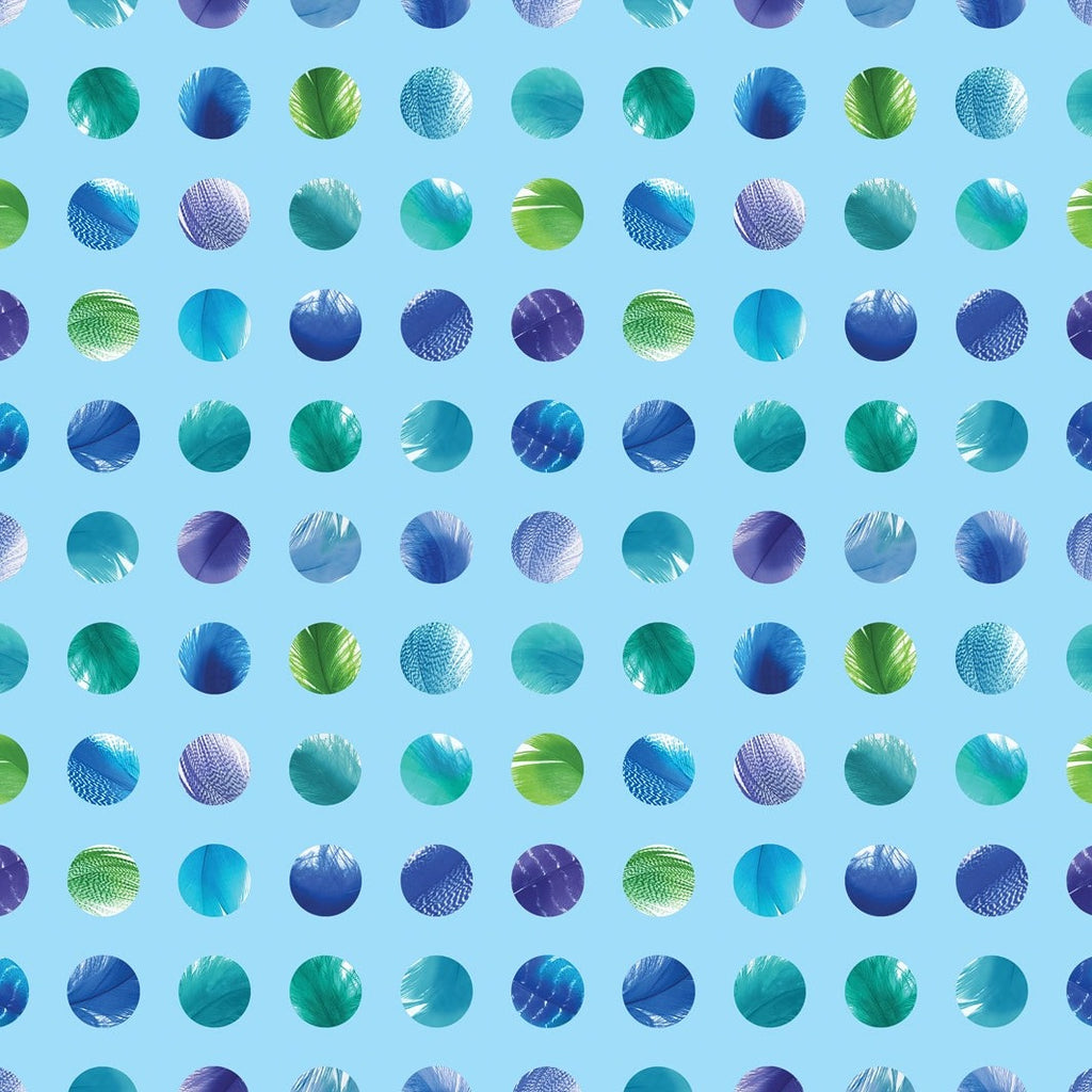 Moda Gradients 2 Splash Dots Blue | Digital Print Dots Fabric