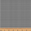 "35"" Remnant - Benartex - Tiny Houndstooth White/Black"