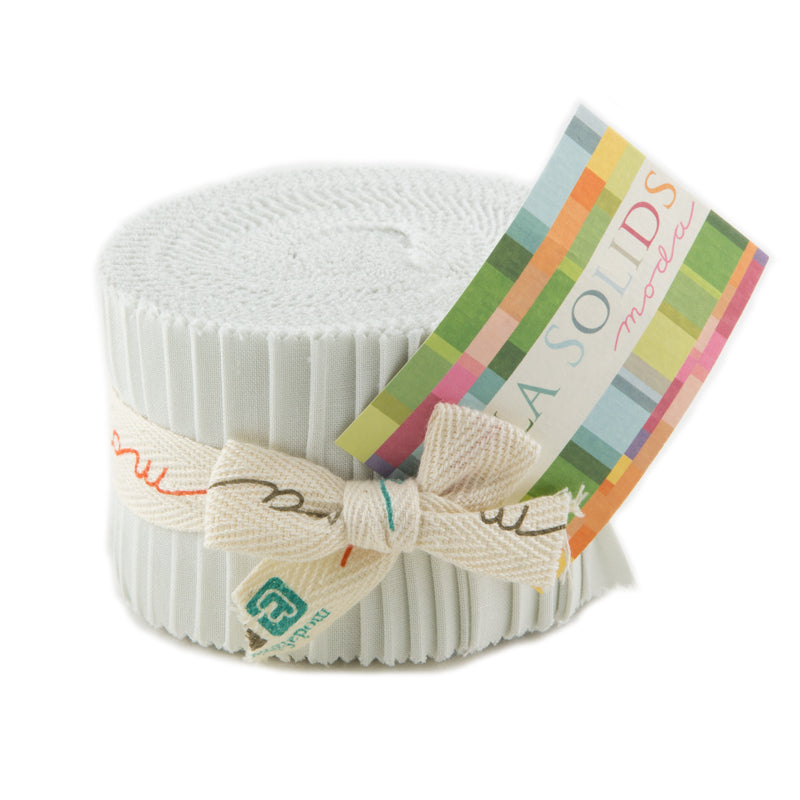 Moda Fabrics - Bella Solids Feather Junior Jelly Roll 9900JJR 127
