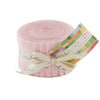 Moda Fabrics - Bella Solids Sisters Pink Junior Jelly Roll 9900JJR 145