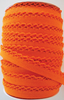 Crotchet Edge Double Fold Bias Solid Orange Tape | Royal Motif Fabrics