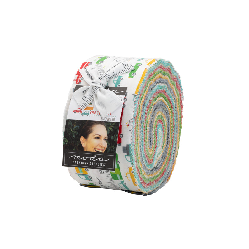 On The Go Jelly Roll by Stacy Iest Hsu for Moda Fabrics | Precuts