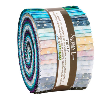 Artisan Batiks Sparkle Silver Colorstory Roll Up by Robert Kaufman
