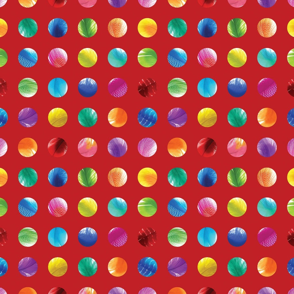 Moda Gradients 2 Sunrise Dots Red | Digital Print Dots Designer Fabric