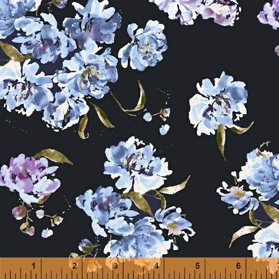 Field Day Peony Fields Sycamore by Windham Fabrics | Floral Fabrics