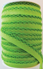 Crotchet Edge Double Fold Bias Solid Lime Tape