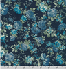 Cotton Flax Prints Florals Navy by Robert Kaufman |Royal Motif Fabrics