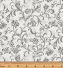 Benartex - Lilacs in Bloom - Fresco Scroll Grey