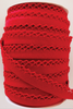 Crotchet Edge Double Fold Bias Solid Red Tape | Royal Motif Fabrics