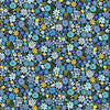 Andover Fabrics - Bloom - Spring - Packed Flowers Blue