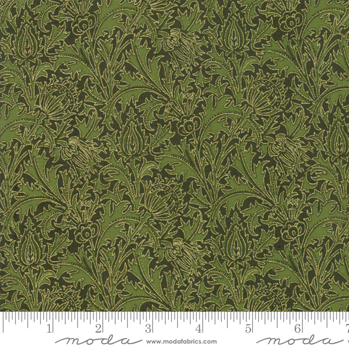 "Moda Fabrics 108"" Wide Morris Holiday Met Pine Quilt Backing 11144 18M"