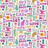 Studio E Fabrics - Kitty Glitter - Words (Non Metallic/No Glitter)