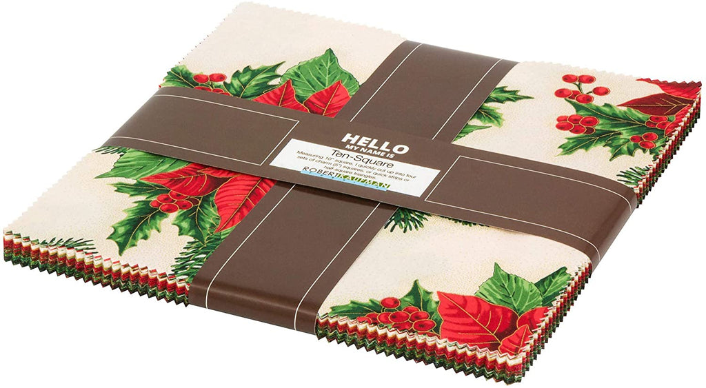 Robert Kaufman - Holiday Flourish 13 Holiday Colorstory Ten Squares/Layer Cake TEN-796-42