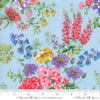 Moda Fabrics - Wildflowers IX Bluebell - Floral Bouquet Light Blue