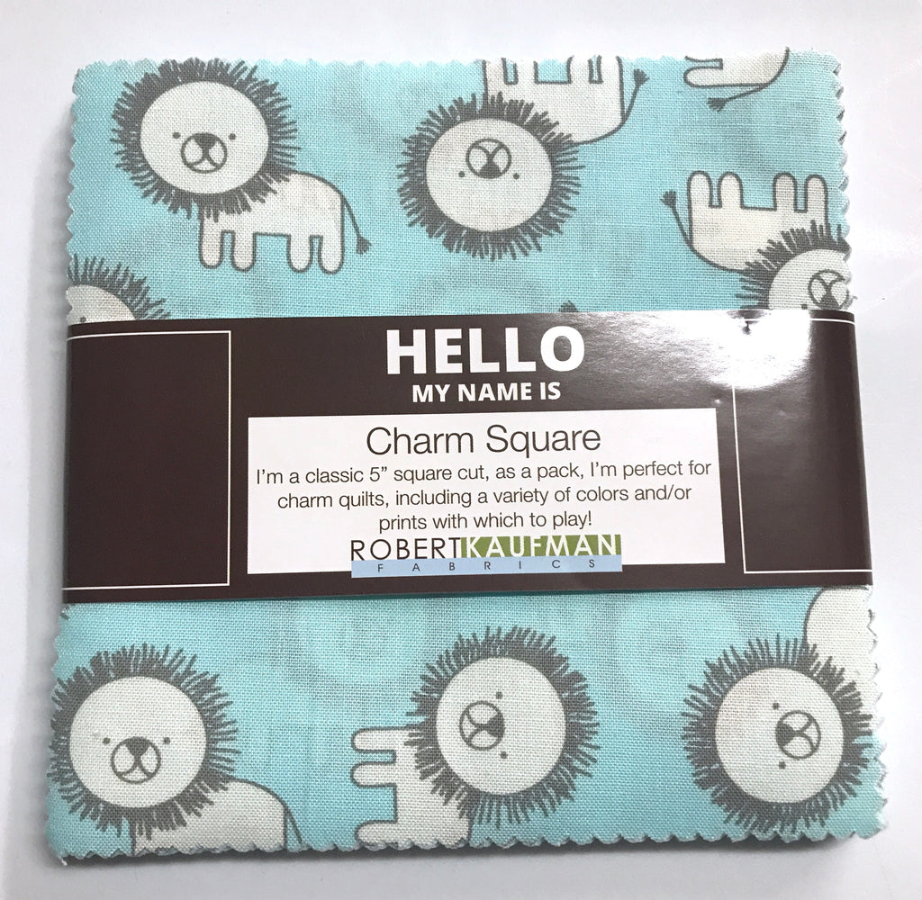 Robert Kaufman - Penned Pals Boy Colorstory Charm Squares CHS-637-42