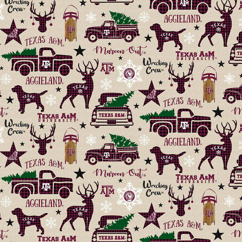 Licensed Colleges Fabrics - Texas A&M University by Sykel Enterprises