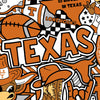 Licensed Colleges Fabrics - University of Texas | Cotton Digital Print