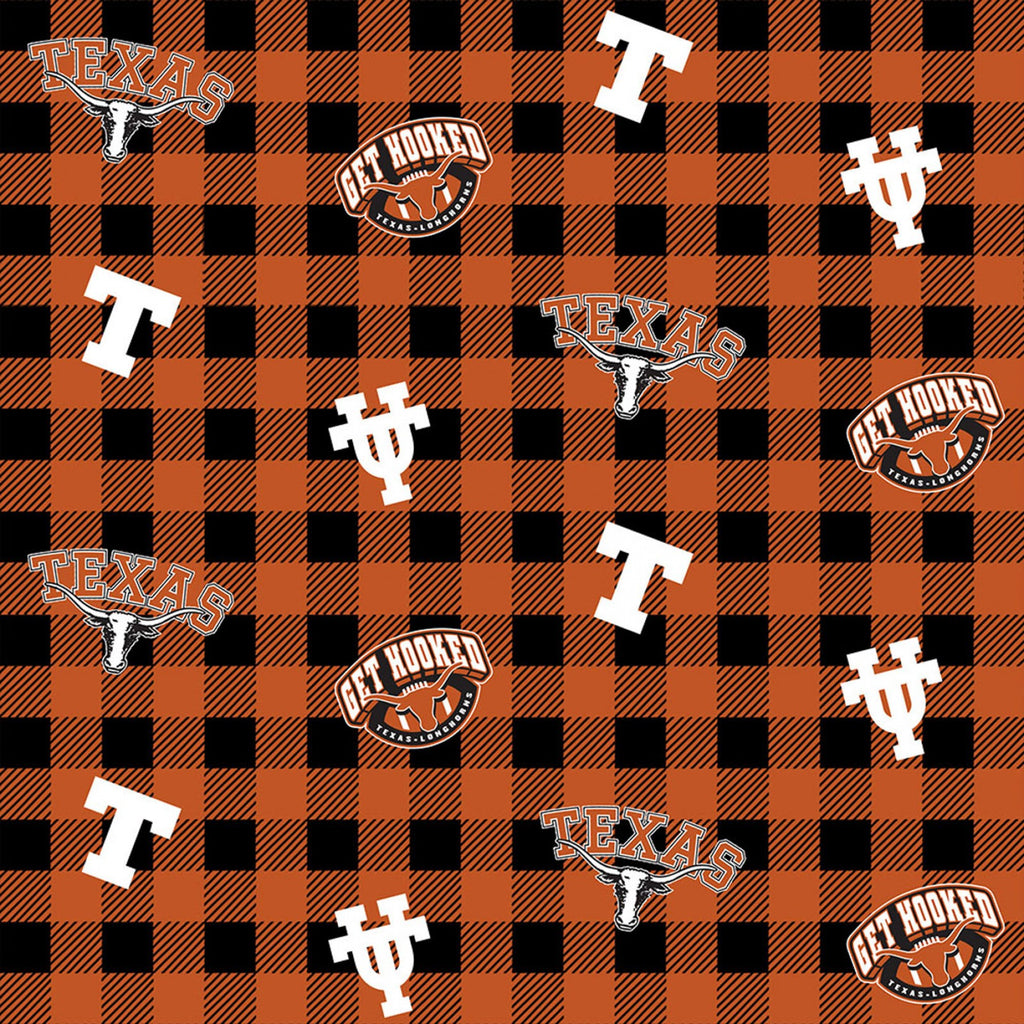 Licensed Colleges Fabrics - University of Texas by Sykel Enterprises