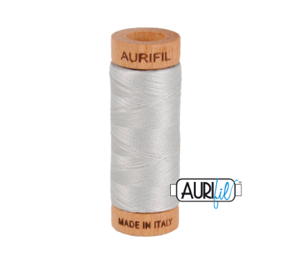 Aurifil 80wt Cotton Thread #2615 Aluminium | Royal Motif Fabrics