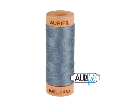 Aurifil 80wt Cotton Thread #1246 Dark Grey | Royal Motif Fabrics