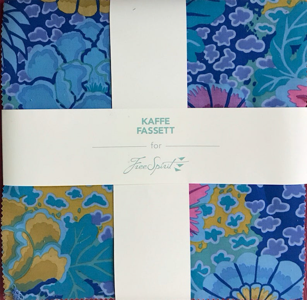 "Kaffe Fassett Peacock 10"" Squares/Layer Cake by Free Spirit Fabrics"