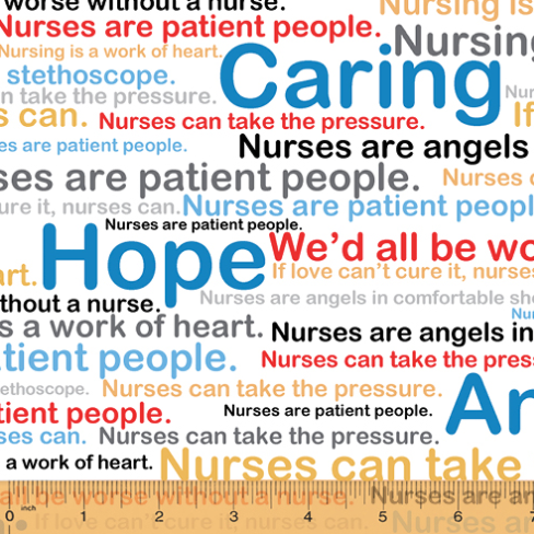 Calling All Nurses - Words on White by Windham Fabrics 37301-X