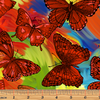 Rainforest Butterfly Magic Orange/Multi Fabric by Benartex | 6862-37