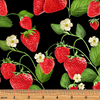 Strawberry Fields Forever - Strawberry Patch Black by Kanvas Studio