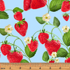 Strawberry Fields Forever - Strawberry Patch Blue by Kanvas Studio