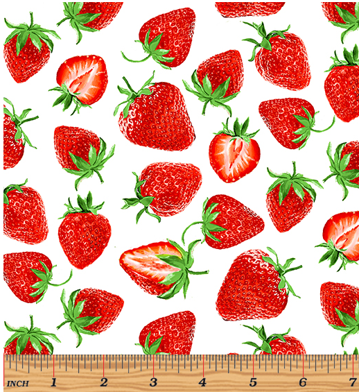 Strawberry Fields Forever - Strawberry Festival White by Kanvas Studio