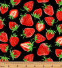 Strawberry Fields Forever - Strawberry Festival Black by Kanvas Studio