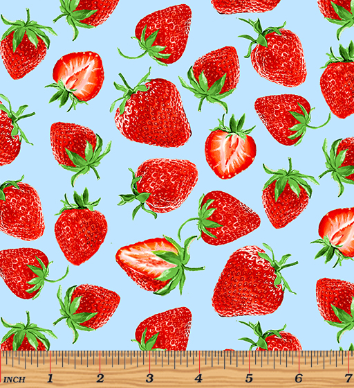 Strawberry Fields Forever - Strawberry Festival Blue by Kanvas Studio