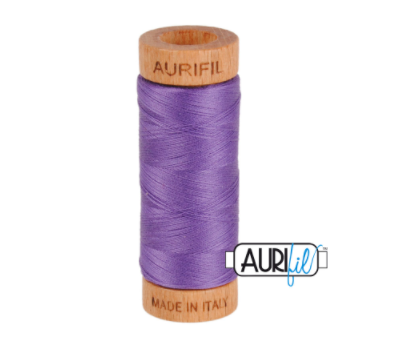 Aurifil 80wt Cotton Thread #1243 Dusty Lavender | Royal Motif Fabrics