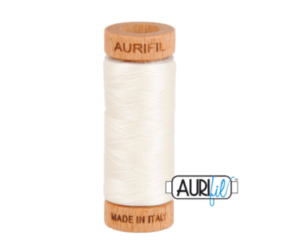 Aurifil 80wt Cotton Thread #6722 White | Royal Motif Fabrics