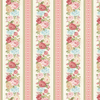 Henry Glass Peaceful Garden Flannel - Border Stripe Cream Fabric F8697-44