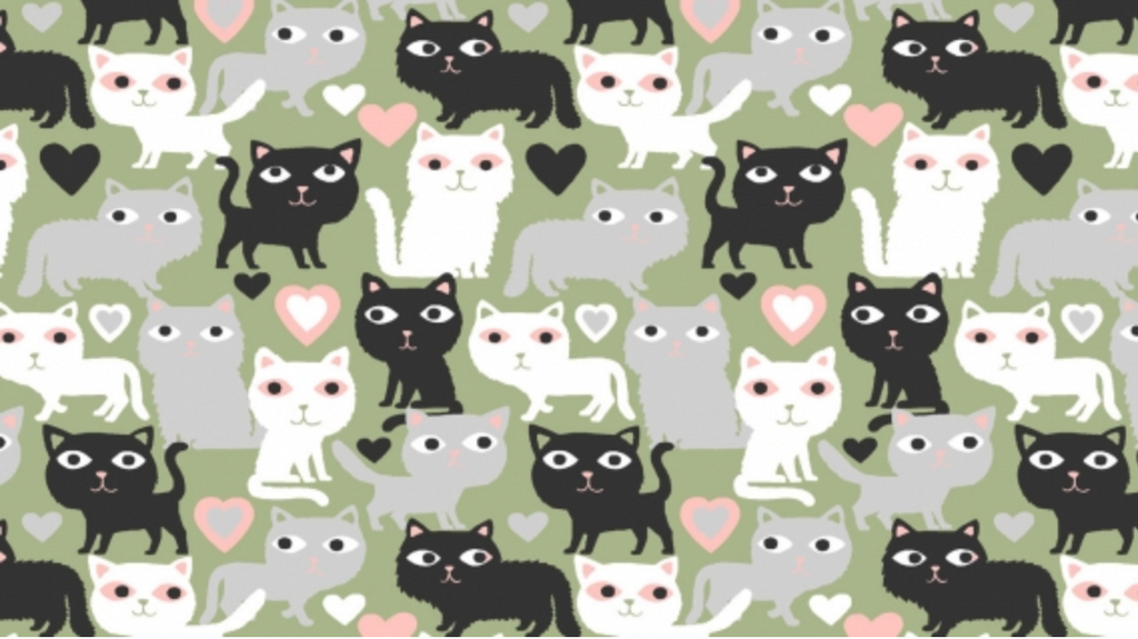 Purr-Fection Multi by Dear Stella | Novelty Fabrics