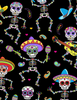 Timeless Treasures - Dancing Day of the Dead | Novelty | Juvenile Fabrics