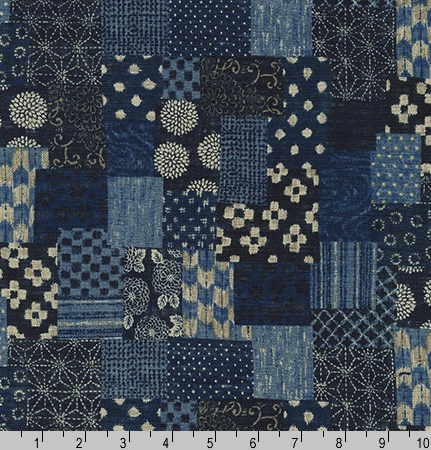 Sevenberry Nara Homespun Indigo by Robert Kaufman | Royal Motif Fabrics